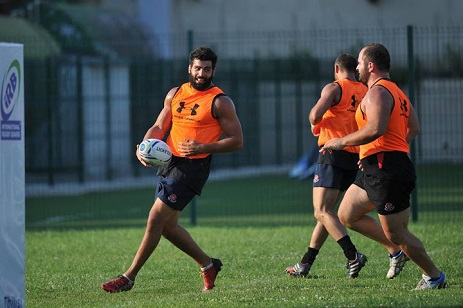 Georgia S Viktor Kolelishvili Left Was Selected As A Player To Watch In The 2016 Rugby World Cup Photo By Union Website