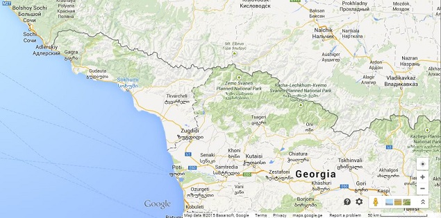 Google Maps changes Sukhumi to Sokhumi following Georgia's request on tiflis russia map, moscow russia map, kars russia map,