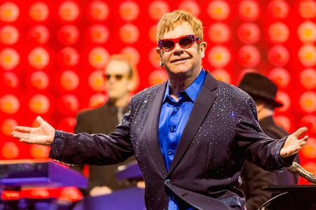 Elton John performing live in Georgia