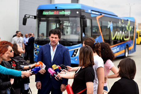 First electric bus serves passengers in Tbilisi