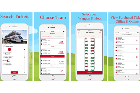 Buy Georgian Railway tickets through new mobile app