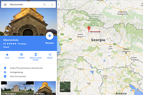 Google Map Of Georgia.Hundreds Of Georgian Historic Monuments Now Feature On Google Maps