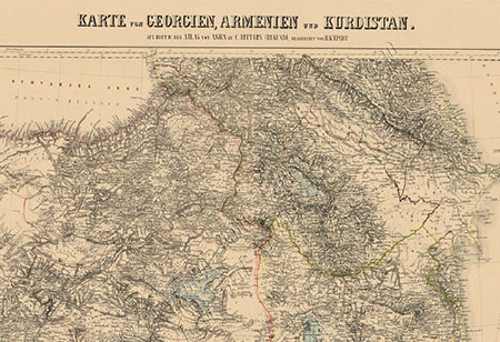 National archive restores old georgian maps agenda map of georgia armenia and kurdistan published in berlin in 1854 from the collection of georgias national archive gumiabroncs Images