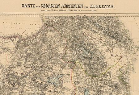 Kurdistan Karte 2019.National Archive Restores Old Georgian Maps