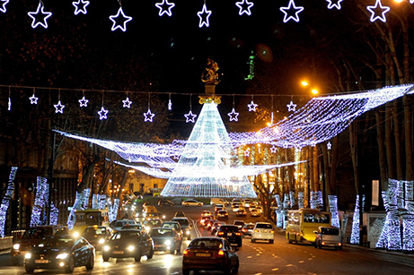 Christmas In Georgia Tbilisi.Tbilisi Christmas Lights Among World S Best Says Cnn
