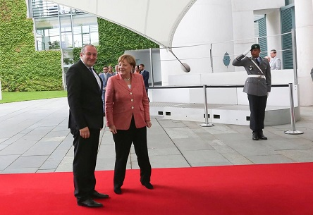 President Margvelashvili meets German Chancellor Merkel