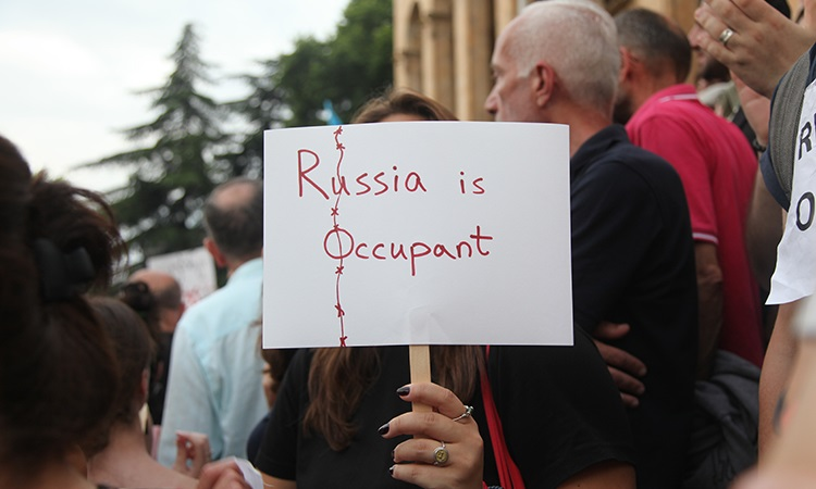 Anti-government protests in Tbilisi continue for second day